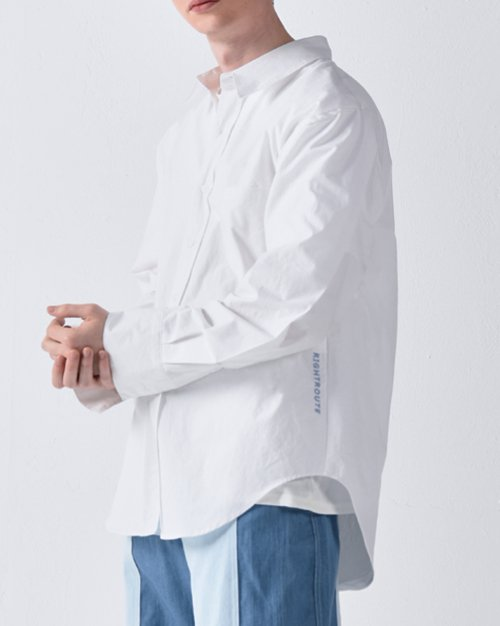 라잇루트(RIGHT ROUTE) PLEATS SHIRT WHITE