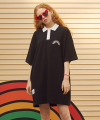(OP-19317) RAINBOW COLLAR ONE-PIECE BLACK