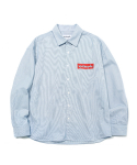 M/G PAINTED BOX LOGO SHIRT STRIPE