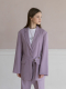 Belt hidden button tailored blazer [LILAC]