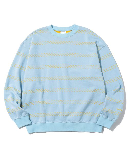 디스이즈네버댓(THISISNEVERTHAT) Brick Striped Crewneck Sky Blue