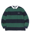 Striped Rugby Shirt Navy/Green