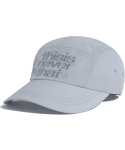 디스이즈네버댓(THISISNEVERTHAT) 3Line-Logo Camp Cap Light Grey