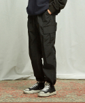 프리즘웍스(FRIZMWORKS) CARGO STRING PANTS _ BLACK