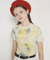 MG9S TIE DYE CROP TEE (YELLOW)