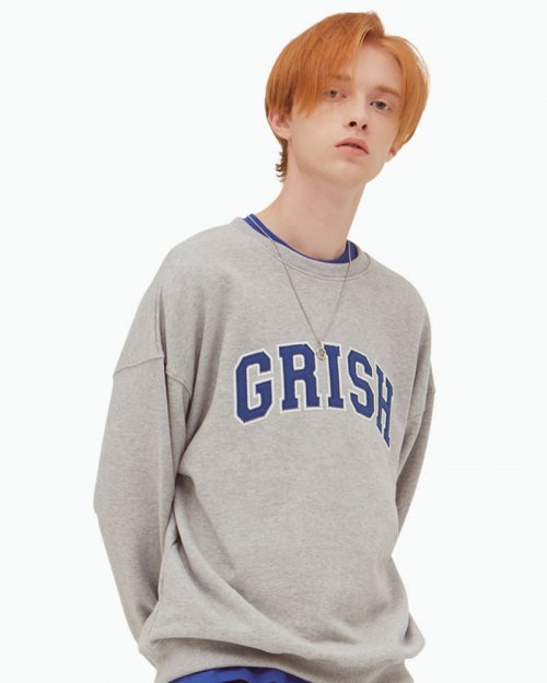 그리쉬(GRISH) SIGNATURE CREWNECK-(GRAY)