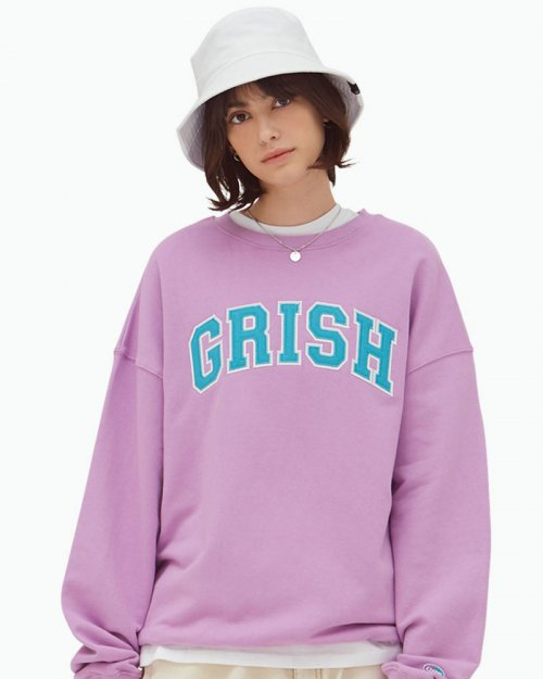 그리쉬(GRISH) SIGNATURE CREWNECK-(LAVENDER)