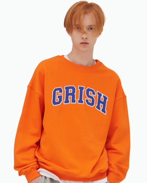 그리쉬(GRISH) SIGNATURE CREWNECK-(ORANGE)