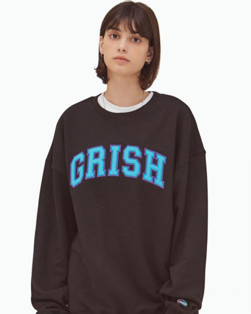 그리쉬(GRISH) SIGNATURE CREWNECK-(BLACK)