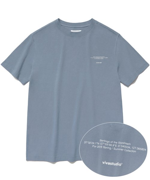 비바스튜디오(VIVASTUDIO) NEW LOCATION SHORT SLEEVE IS [PASTEL BLUE]