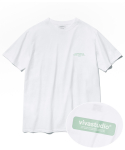 비바스튜디오(VIVASTUDIO) BOX LOGO SHORT SLEEVE JS [WHITE]