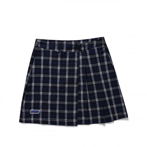 본챔스(BORN CHAMPS) BCG CHECK SKIRT CESAGSK01BL
