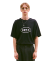 OVAL LOGO TEE black