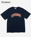 S/S ARCH LOGO TEE NAVY/ORANGE
