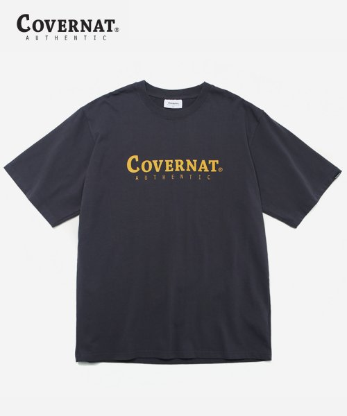 커버낫(COVERNAT) S/S AUTHENTIC LOGO TEE CHARCOAL