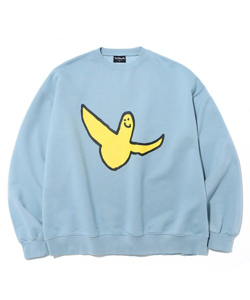 마크 곤잘레스(MARK GONZALES) M/G BIG ANGEL LOGO CREWNECK BLUE