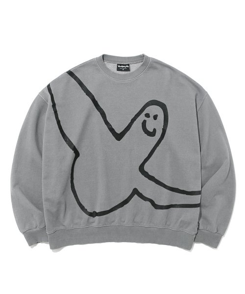 마크 곤잘레스(MARK GONZALES) M/G ANGEL LOGO PIGMENT DYED CREWNECK GRAY