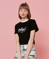 SERIF LOGO CROP T-SHIRTS_black