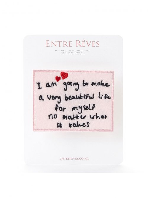 앙트레브(ENTRE REVES) BEAUTIFUL LIFE PATCH