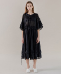 루트원(ROUTE1) Tunic Black Maxi Dress (TESOP30)