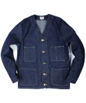 아웃스탠딩(OUTSTANDING) NO COLLAR  COVERALL [INDIGO]