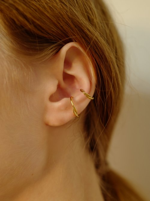 피오레(FIORE) ribbon layered earcuff