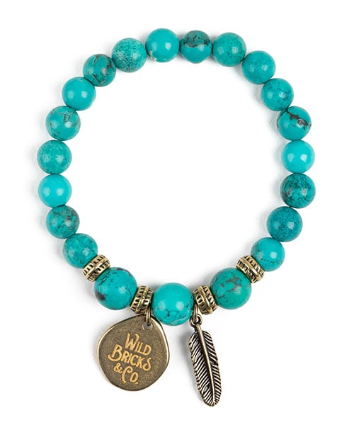 와일드 브릭스(WILD BRICKS) WB GEMSTONE BRACELET (aqua)