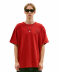 BIG OVAL LOGO TEE red