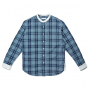 seersucker check cleric band neck shirt_CWSAM19283NYX