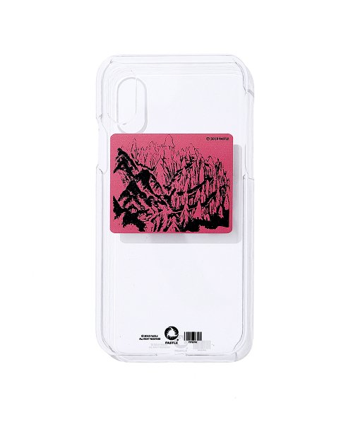 패슬(FASTLE) MOUNTAIN SKETCH IPHONE X/XS CLEAR HARD CASE magenta