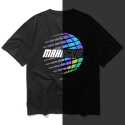 마하그리드(MAHAGRID) RAINBOW REFLECTOR PLANET TEE BLACK(MG1JMMT511B)