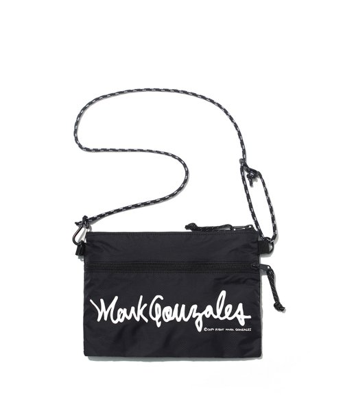 마크 곤잘레스(MARK GONZALES) M/G SIGN LOGO SACOCHE BAG BLACK