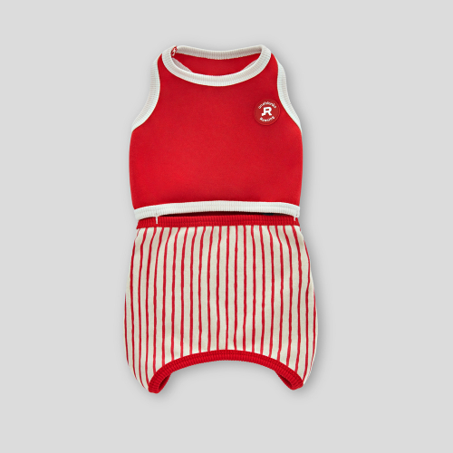 앤블랭크(ANDBLANK) STRIPES ROMPER : RED