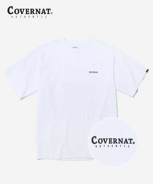 커버낫(COVERNAT) S/S SMALL AUTHENTIC LOGO TEE WHTIE