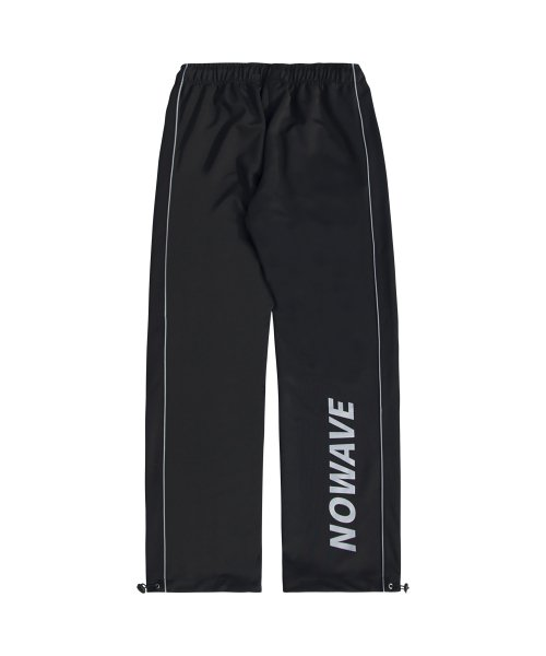 노웨이브(NOWAVE) SCOTCH LINE TRACK PANTS - Black