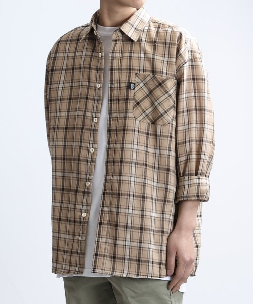쟈니웨스트(JHONNY WEST) Vanti Check Shirts (Tan Brown)