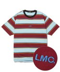 엘엠씨(LMC) LMC MULTI COLOR STRIPE TEE burgundy