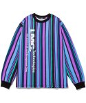 엘엠씨(LMC) LMC VERTICAL MULTI STRIPE LONG SLV TEE blue