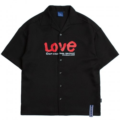 로맨틱크라운(ROMANTIC CROWN) [R.C X M.G]WITH LOVE Souvenir Shirts_Black