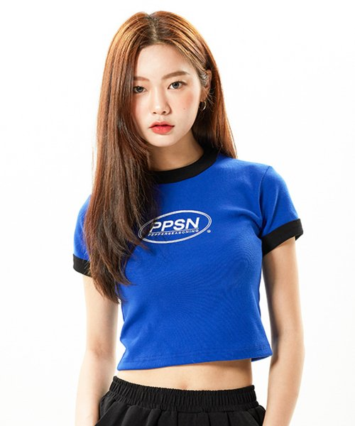 페퍼시즈닝(PEPPERSEASONING) PPSN Crop T / Blue