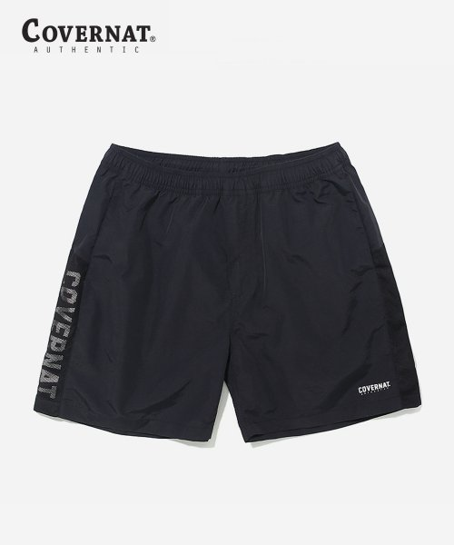 커버낫(COVERNAT) JERSEY LOGO SHORE SHORTS BLACK