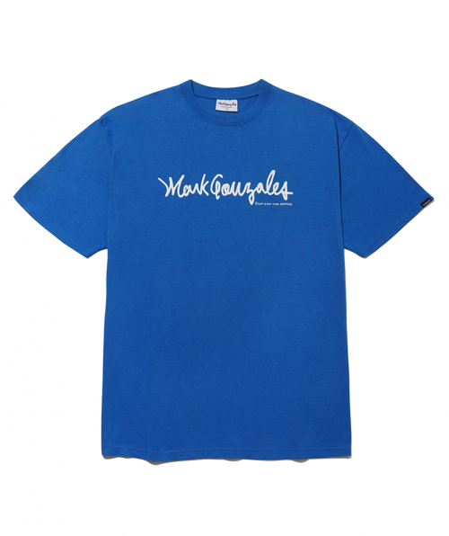 마크 곤잘레스(MARK GONZALES) M/G SIGN LOGO T-SHIRTS BLUE