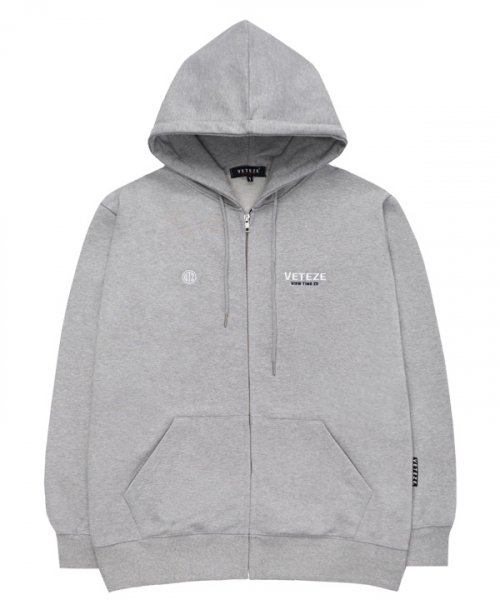 베테제(VETEZE) Circle Logo Hood Zipup (gray)