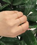 티오유() 154 [4SET] Layered Silver 925 Ring