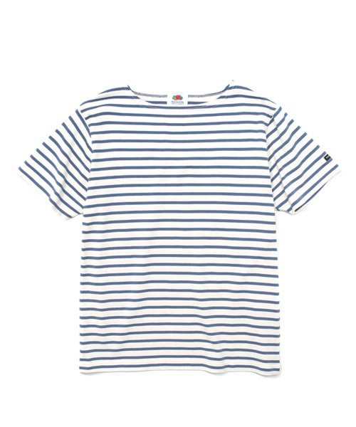 프룻오브더룸(FRUIT OF THE LOOM) S/S STRIPE BOAT NECK BLUE
