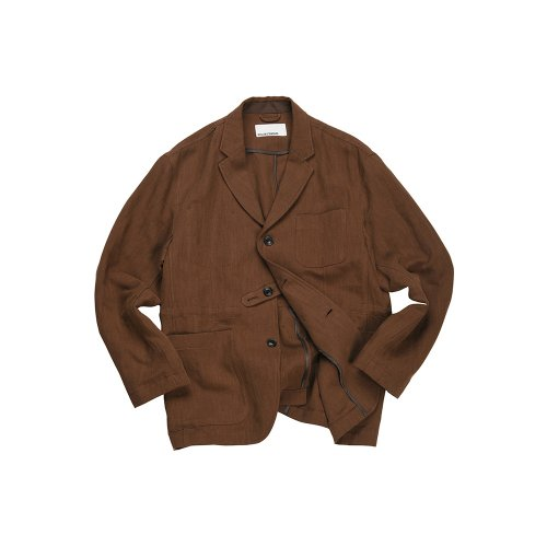 비슬로우 스탠다드(BESLOW STANDARD) 19SS LINEN LOOSE FIT JACKET BROWN