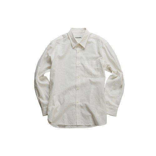 비슬로우 스탠다드(BESLOW STANDARD) 19SS REGULAR COLLAR LINEN SHIRT OFF WHITE