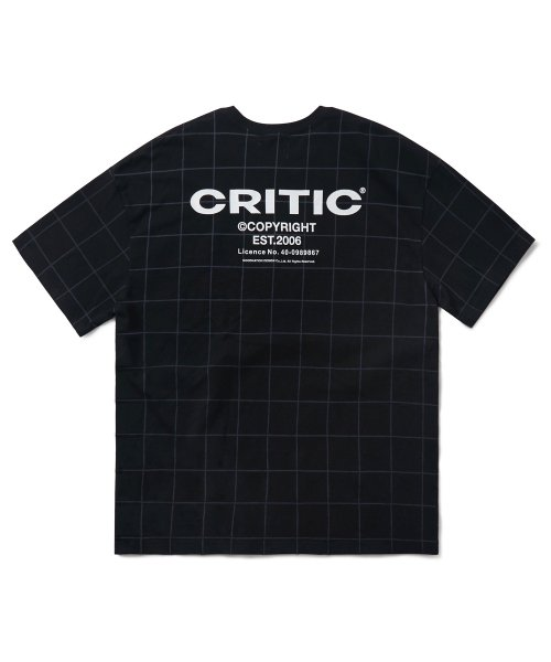 크리틱(CRITIC) BACKSIDE LOGO GRID T-SHIRT(BLACK)_CTONURS09UC6
