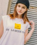 라모드치프(LAMODECHIEF) LAMC OFF LICENCE SLEEVELESS (WHITE)