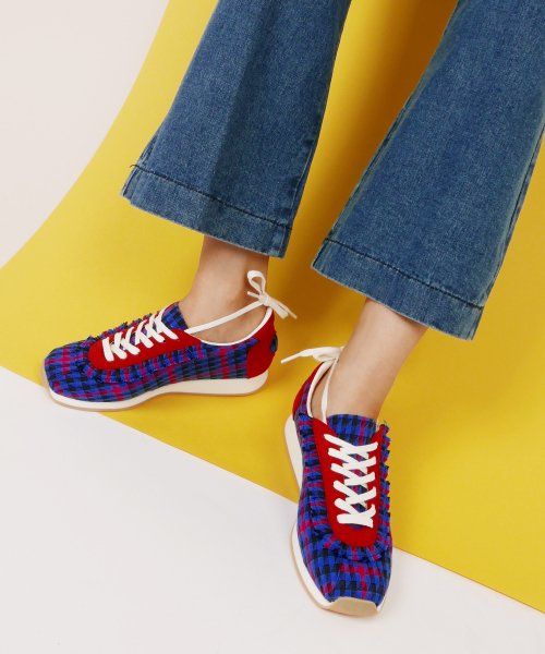 레이브업(RAVE UP) Girls Sneakers_Blue Check_0058